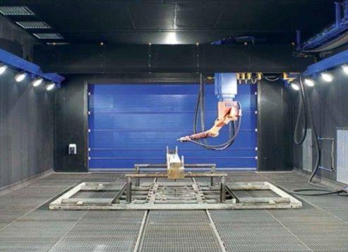 龙门吊式机器人喷砂房